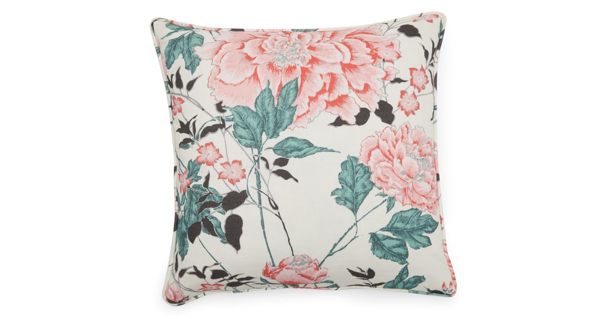Vintage Floral Decorative Throw Pillow Drew Barrymore