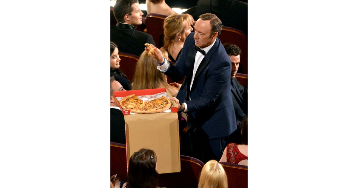 Kevin Spacey got his own box of pizza    Pizza Delivery at