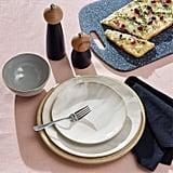 Rivet Modern Reactive-Glaze Stoneware 18-Piece Dinnerware Set