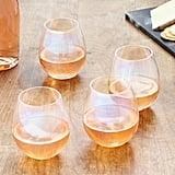 LSA International Iridescent Stemless Wine Glass Set