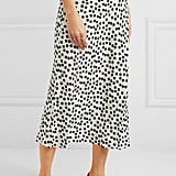 RIXO Kelly Polka-Dot Crepe Midi Skirt ($341.68)