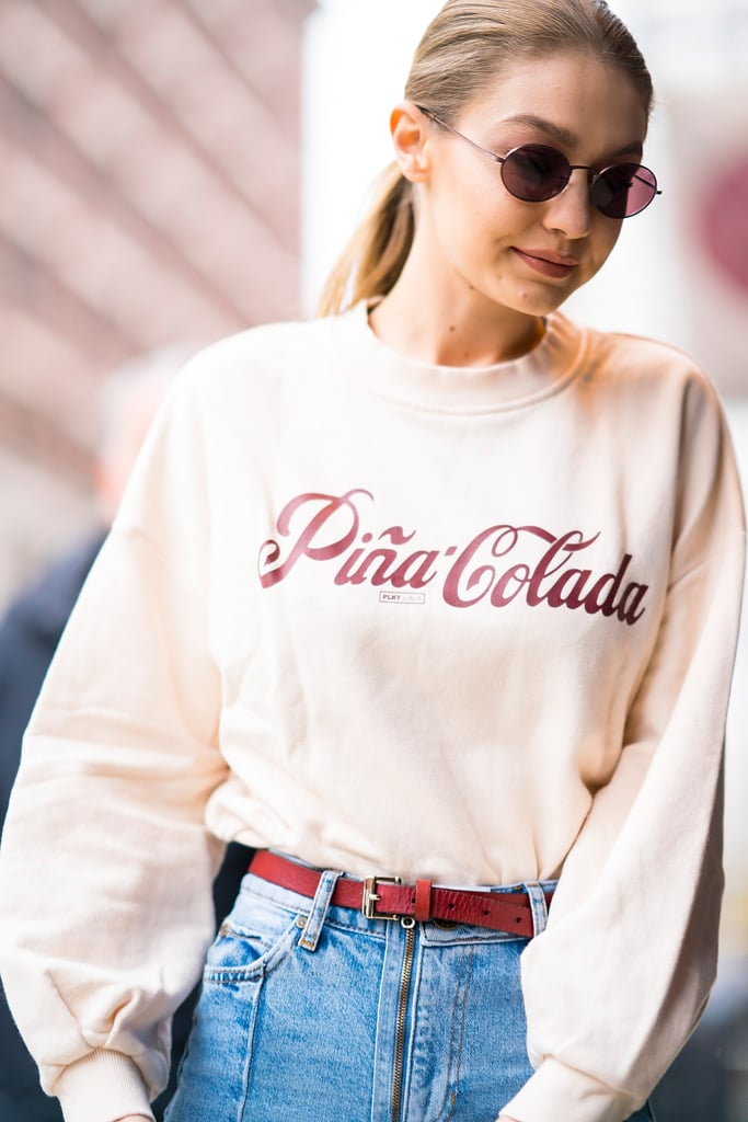 Gigi Hadid Pina Colada Sweatshirt