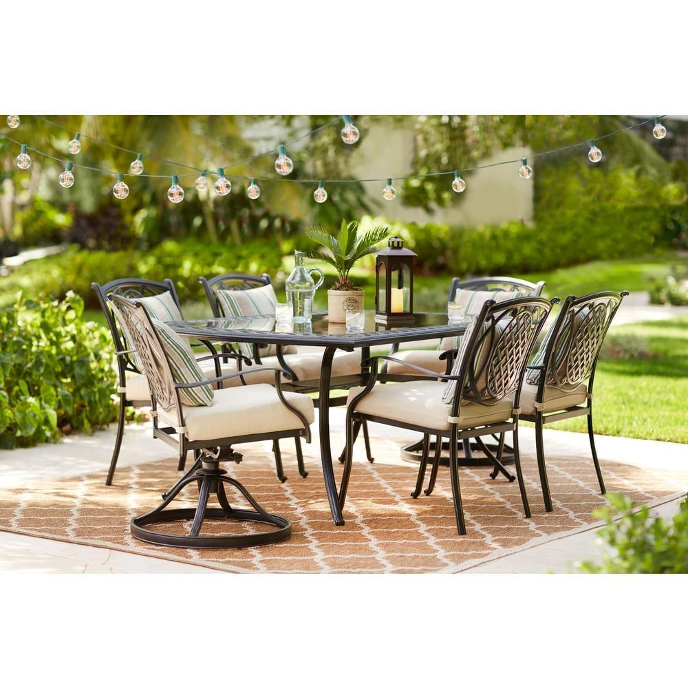 Belcourt 7-Piece Metal Outdoor Dining Set | New Outdoor ...