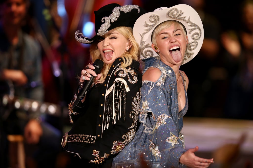 Miley Cyrus and Madonna Filming MTV Unplugged
