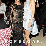 She met up with her BFF Beyoncé inside the Met Gala reception in May 2012.