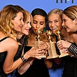 In 2018, Laura Dern, Nicole Kidman, Zoe Kravitz, Reese Witherspoon, and Shailene Woodley celebrated Big Little Lies winning the award for best miniseries or television film.