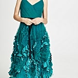 Marchesa Notte Mixed Media Gown