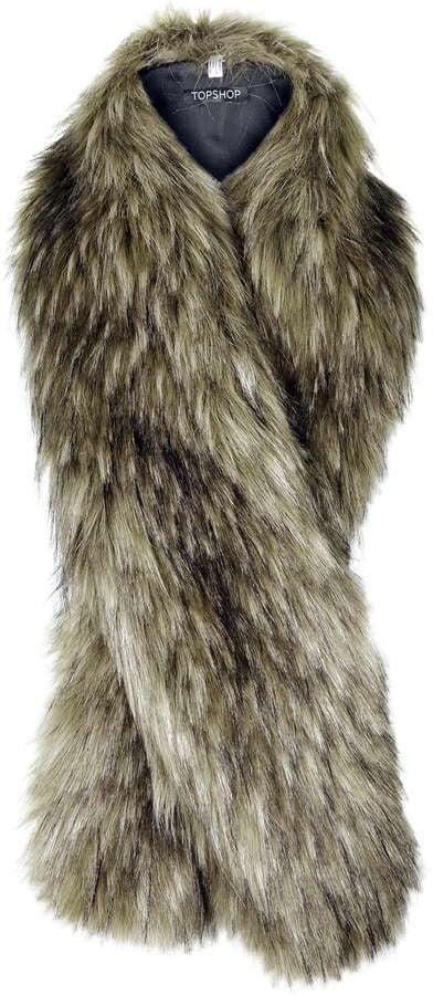 Topshop Faux Fur Stole ($52)