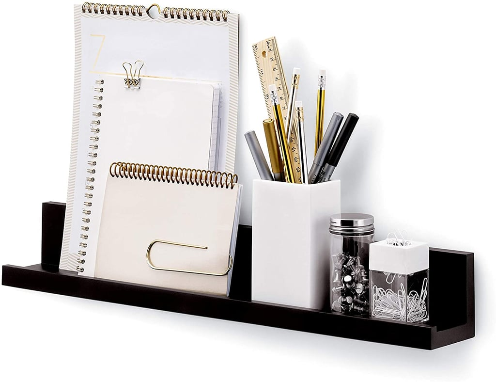 For Wall Storage: Command Picture Ledge