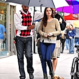 Leighton Meester and her pal Trudie received special treatment on the set of Gossip Girl in NYC in October 2011.
