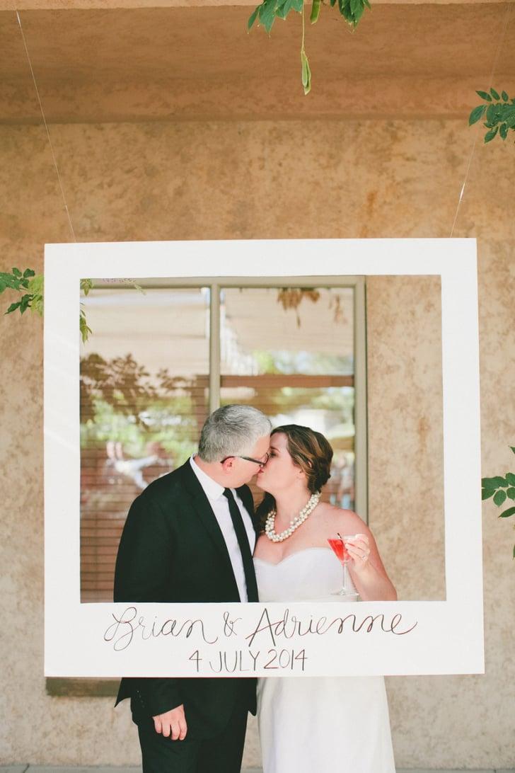 Polaroid Frame Photo Booth | Polaroid Wedding Ideas