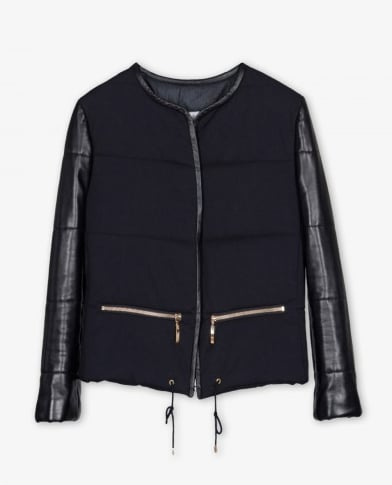 This Sandro Voluptueuse jacket ($459, originally $655) is a slick rendition of the traditional puffer coat. The leather sleeve detailing and drawstring pulls are the perfect mix of fashion and function. — CDC