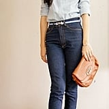 A chic take on high-waisted denim.  Photo courtesy of Lookbook.nu