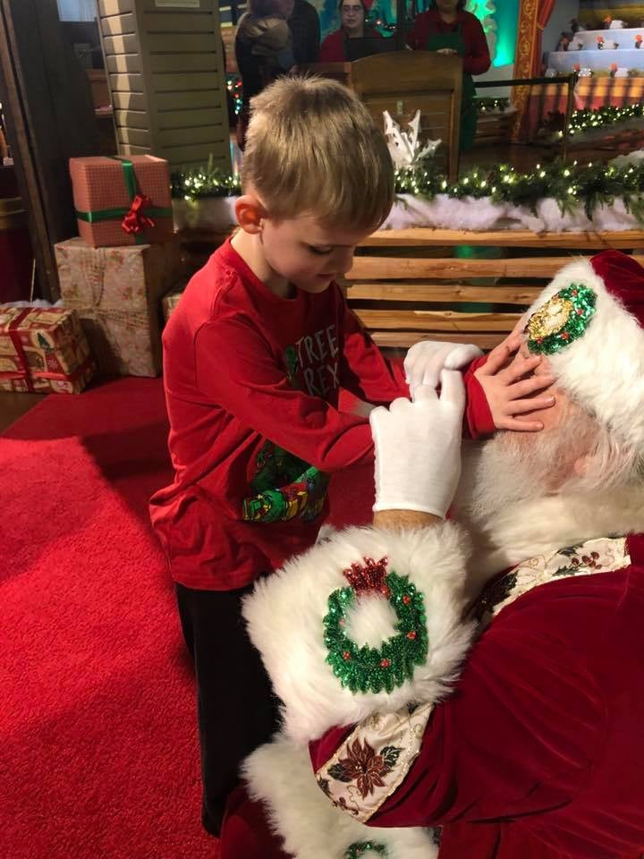 """When Misty Wolf took her son Matthew to see Santa in December 2018, she got more than she bargained for in the cheer department. Misty is calling the man the """"best Santa ever"""" after he went above and beyond to make Matthew, who is blind and has autism, feel comfortable and in control of his visit. When it was Matthew's turn to see Santa, Misty whispered to him to let him know of Matthew's special needs, but most importantly, that he's """"very interested in Santa."""" """"He said, 'Say no more,' and immediately got down on the floor to greet my little man,"""" Misty wrote on Facebook. """"He talked to Matthew for a long time. Let him feel all over him. Told him to pull his beard, feel his hat, and talked about his red suit. He asked Matthew if he wanted to feel anything and Matthew said, 'Your eyes that twinkle' (from the poem ''Twas the Night Before Christmas'), so Santa let him touch all over his eyes for as long as Matthew wanted.""""      Related:                                                                                                           Christmas Lights Inspired a Nonverbal Teen With Autism to Say Her First Words               Still looking to give Matthew the ultimate experience, Santa asked the boy if he'd ever felt a real reindeer, before carrying him over to a display area featuring taxidermy reindeer. """"It was great,"""" Misty wrote. """"My heart was full seeing Matthew so interested."""" See the sweet photos of Matthew's visit ahead.      Related:                                                                                                                                An Amazon Prime Delivery Guy Had the World's Purest Reaction to Discovering Snacks Outside a Home"""