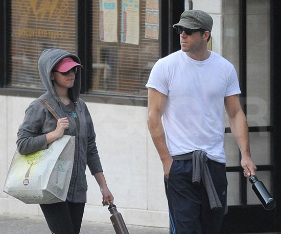 Slide Photo of Scarlett Johansson and Ryan Reynolds Walking Together in NYC on Anniversary