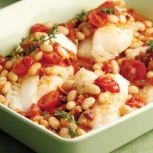 Chorizo White Bean Baked Fish Recipe