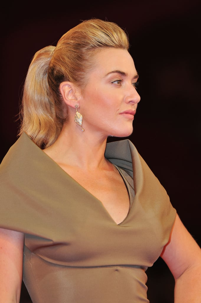 Kate Winslet rocked a high-volume ponytail.
