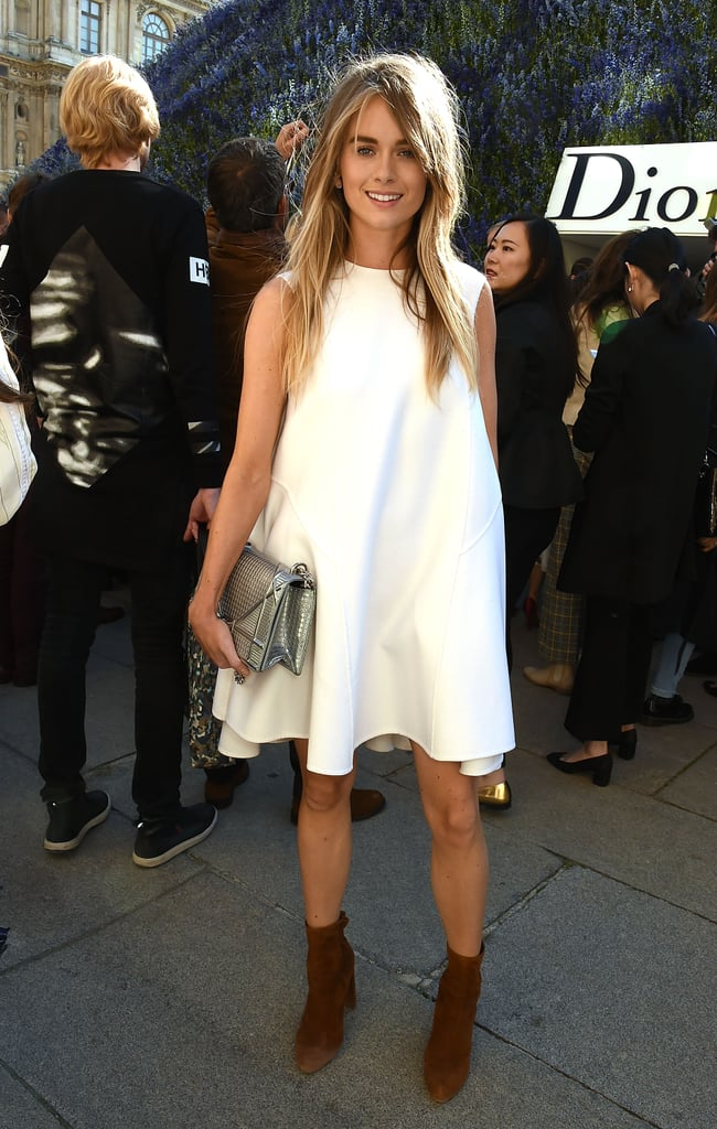 Cressida Showed Up to the Spring '16 Dior Runway Show in a Breezy White Dress