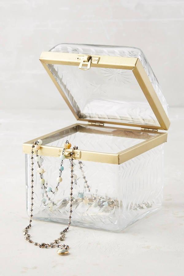 Etched Glass Jewelry Box