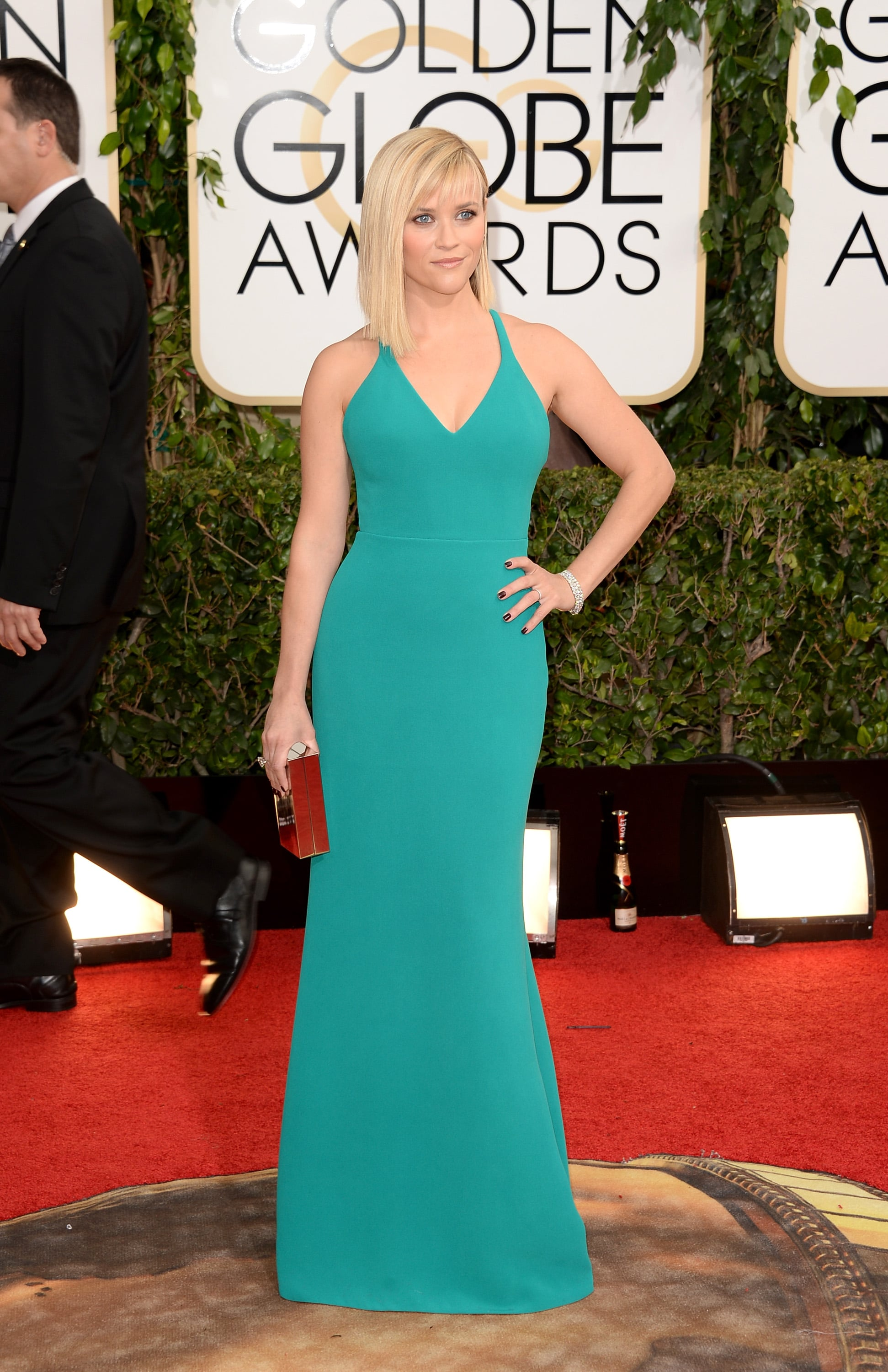 Reese Witherspoon showed off her fit figure at the Golden Globes.