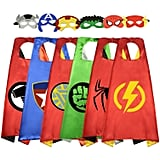 Cartoon Super Hero Satin Capes
