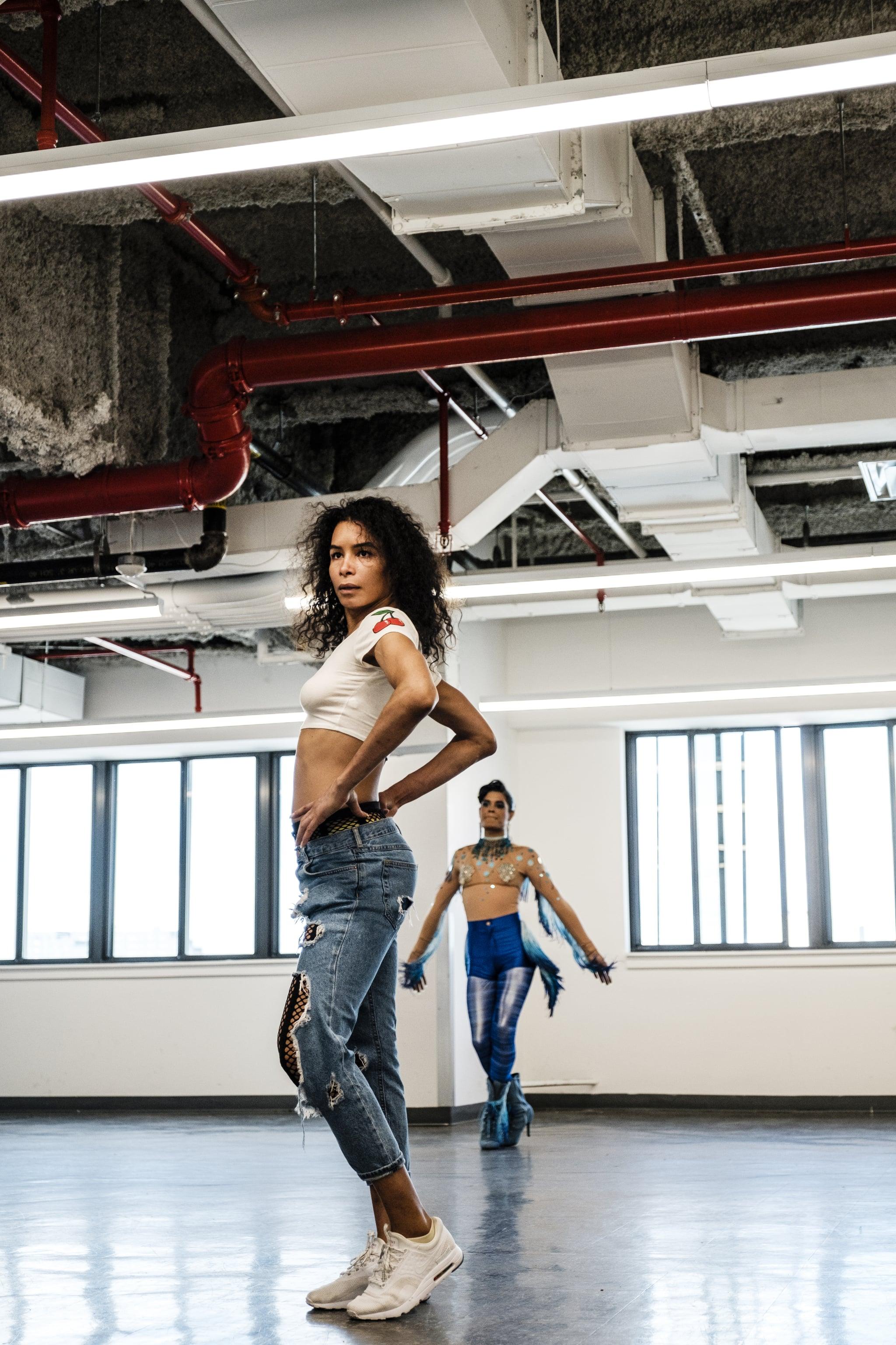 NEW YORK, NY - MAY 16: Choreographer Leiomy Maldonado rehearses an upcoming dance scene in POSE at Silvercup Studios North in New York, NY on May 16, 2019. (Photo by Chris Sorensen for The Washington Post via Getty Images)