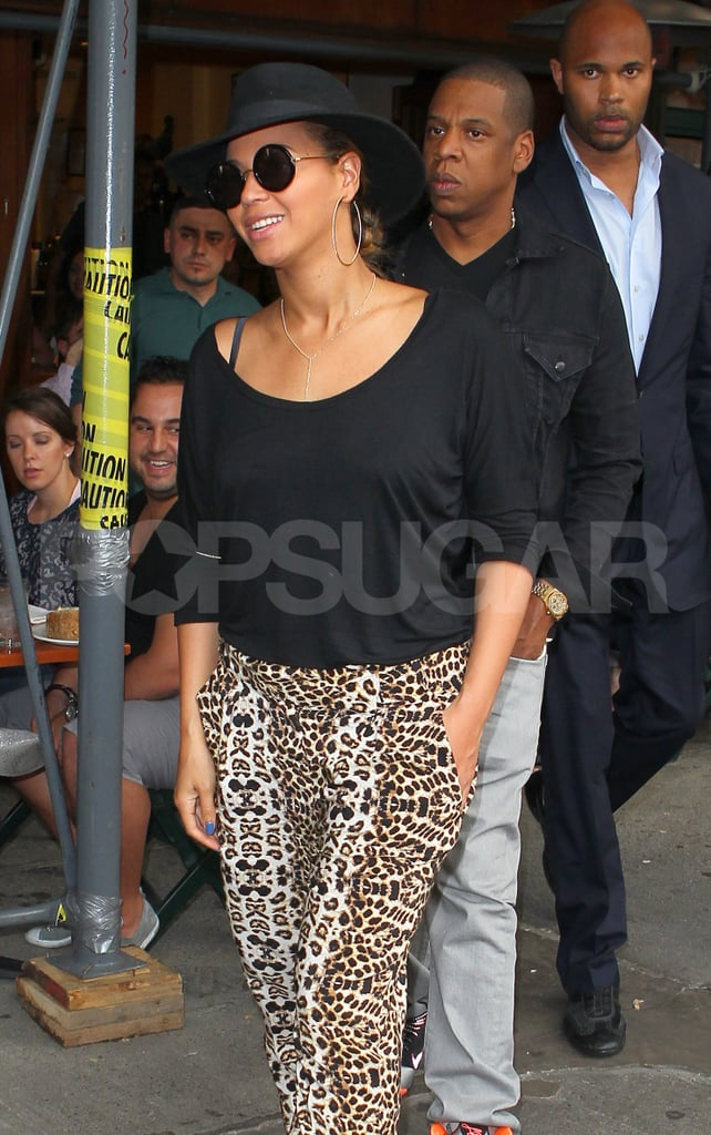 Beyoncé Knowles and Jay-Z went to eat at Bar Pitti.