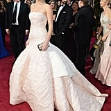 Jennifer Lawrence in Dior Dress at the Oscars