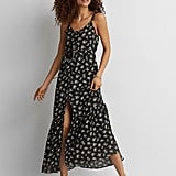 American Eagle Outfitters Ruffle Tie-Back Maxi