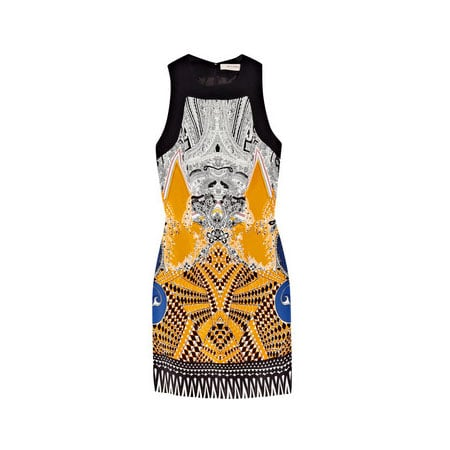 Printed Silk Blend Mini Dress
