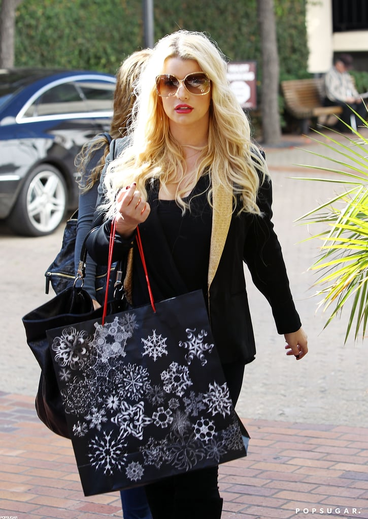 Jessica Simpson did some Christmas shopping in Beverly Hills.