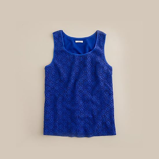 J. Crew Leslie Lace Shell, $68