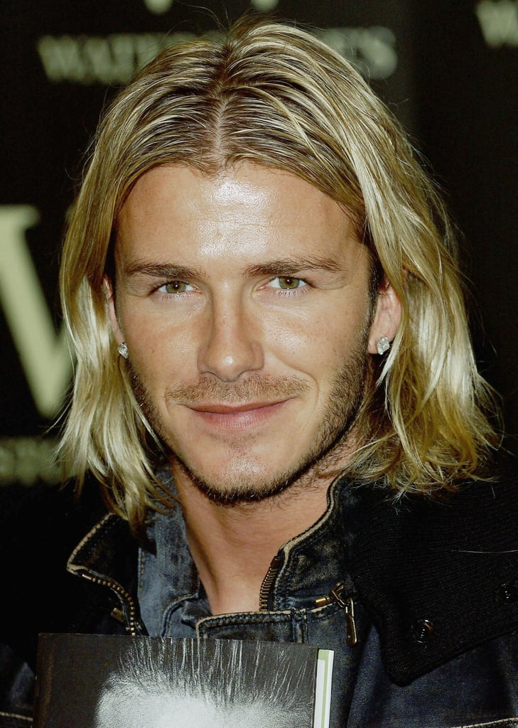 David Beckham Male Celebrities With Long Hair Popsugar