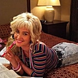 Cobie Smulders gave proof that Robin Sparkles will be returning to How I Met Your Mother. Source: Twitter user CobieSmulders