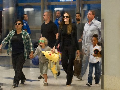 Shiloh and Zahara Jolie-Pitt With Mom Angelina Jolie