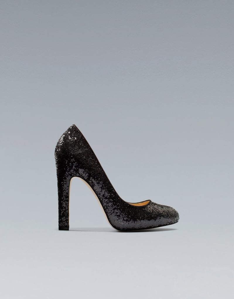 These Zara Glitter High Heel Court Shoes ($70) are as affordable as they are fabulous.