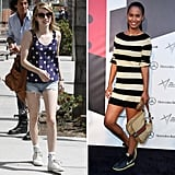 Two perfect ways to style your kicks, courtesy of Joy Bryant and Emma Roberts.