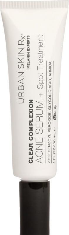 Benzoyl Peroxide Treatment: Urban Skin Rx Clear Complexion Acne Serum + Spot Treatment