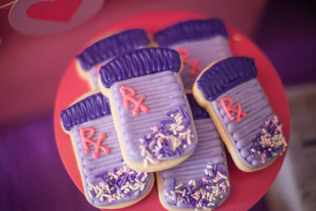 Jenny's signature cookies were present throughout the party, too. From prescription bottle sugar cookies . . .  Source: Jenny Cookies