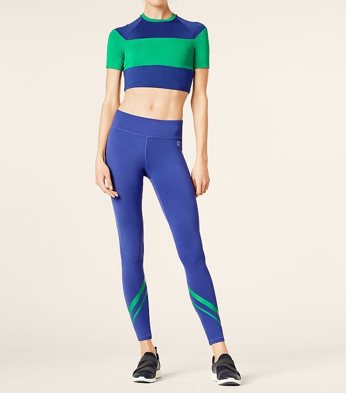 Block-Striped Cropped Top