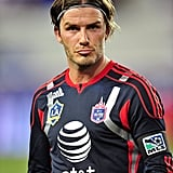 David Beckham at the Red Bull arena.