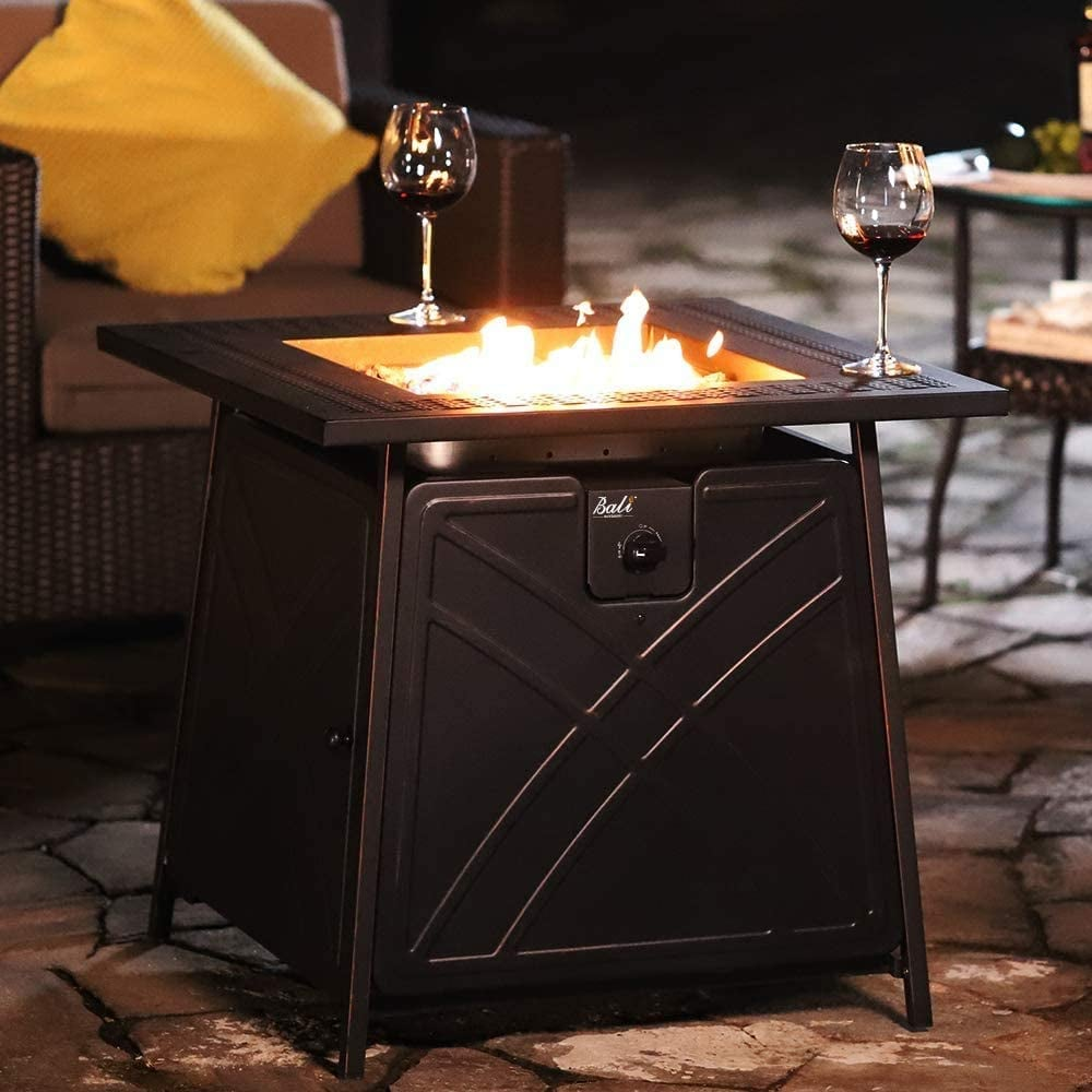 """Bali Outdoors 28"""" Gas Fire Pit Table"""