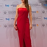 Penelope Cruz Wears Vintage Red Versace Dress | Pictures