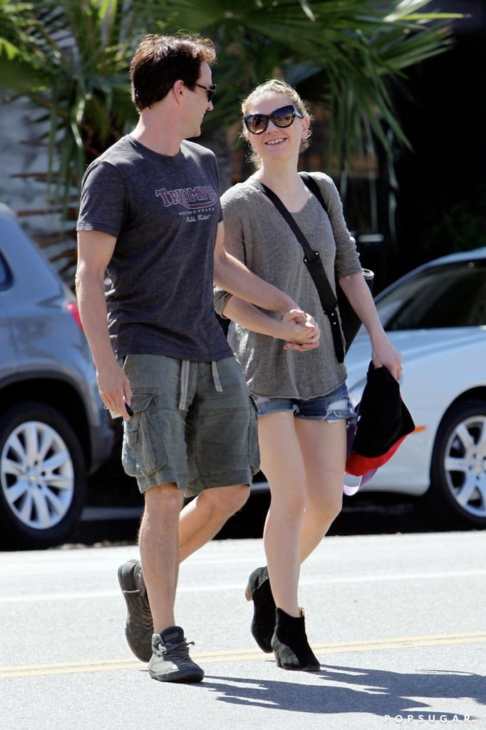Anna Paquin and Stephen Moyer took a stroll together through Santa Monica looking cuter than ever. The couple may be feeling the love after they celebrated their third wedding anniversary in late August, or they might just be enjoying some mommy-daddy time. Anna and Stephen met on the set of their hit HBO series, True Blood, which will be going into its seventh and final season in the Summer of 2014. Despite True Blood coming to an end, Anna has plenty of work ahead of her as she prepares for the release of her upcoming project, X-Men: Days of Future Past alongside Jennifer Lawrence and Halle Berry.