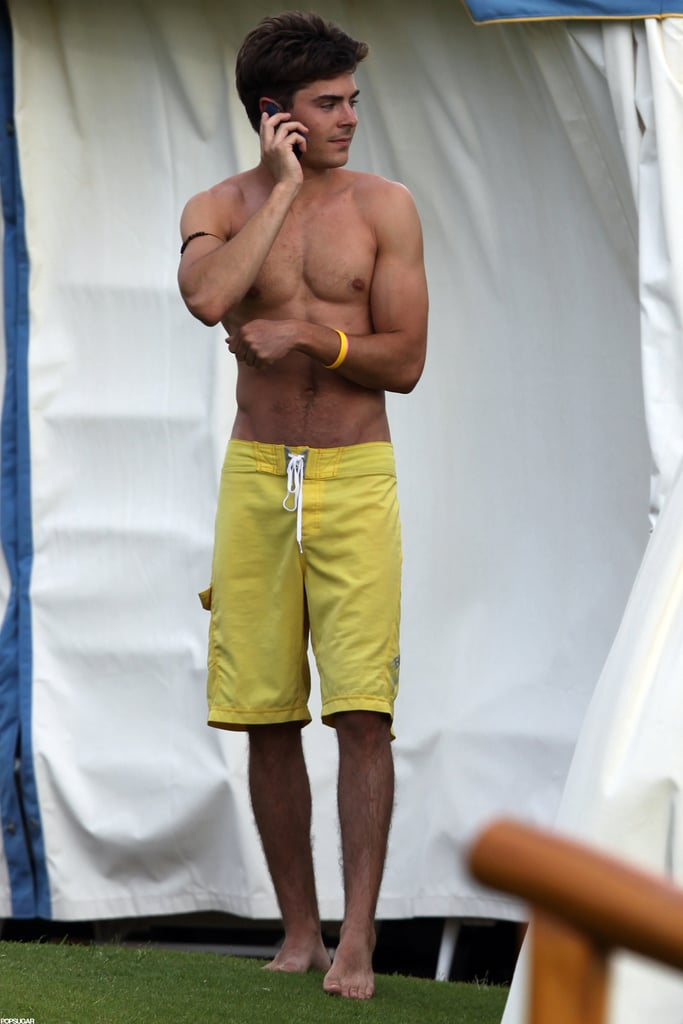 A shirtless Zac soaked up the sun in Maui in June 2010.