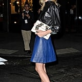 Kate Bosworth worked leather on leather and a pair of Proenza Schouler booties for a high-impact cool.