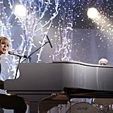 "2010: Taylor Sang ""Back to December"" on the Piano"