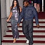 Kim Kardashian Wearing an Iridescent Dress With Kanye West at FGI's 2019 Night of Stars