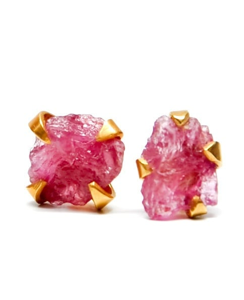 These raw pink tourmaline earrings ($92) prove studs don't have to be boring. — Annie Scudder, editor