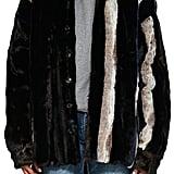 Y/Project Striped Faux-Fur Jacket